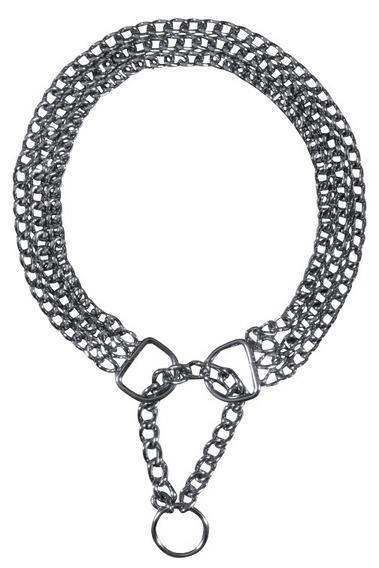 Трикси Ошейник-цепь трехрядный с цугом, сталь 2,5 мм, 5 размеров, Trixie