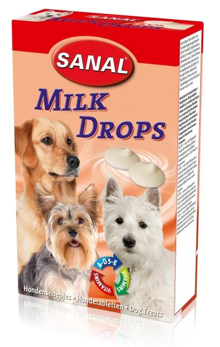 Санал Витаминизированные молочные дропсы для собак Milk Drops, в асссортименте, Sanal