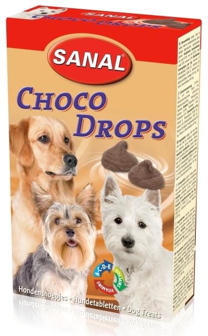 Санал Витаминизированные шоколадные дропсы для собак Sanal Choco Drops, 125 г, Sanal