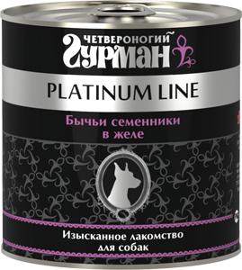 Четвероногий гурман Консервы для собак Платиновая Серия, 240 г, в ассортименте