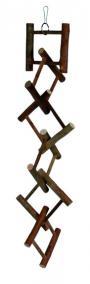 Трикси Лестница для попугая разрезанная, деревянная, 12 ступеней, длина 50 см, Trixie