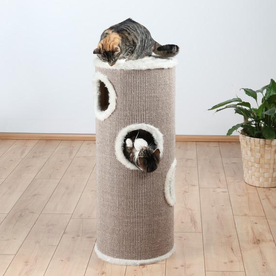 Трикси Домик-башня для кошек Edorado, коричнево/бежевый, размеры в ассортименте, Trixie