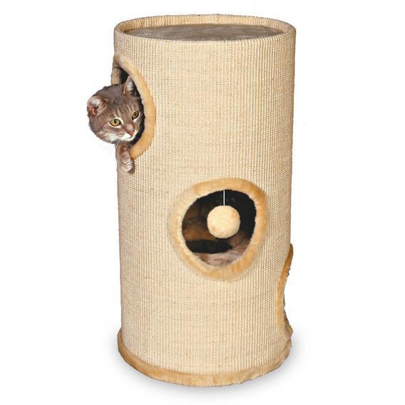 Трикси Домик-башня для кошек Samuel, диаметр 37 см, высота 70см, Trixie