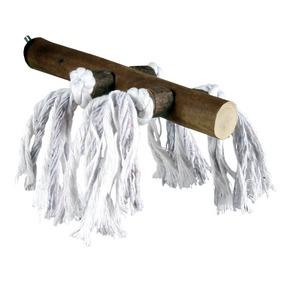 Трикси Жердочка деревянная с веревкой, 2 размера, с винтовым креплением к клетке, Trixie