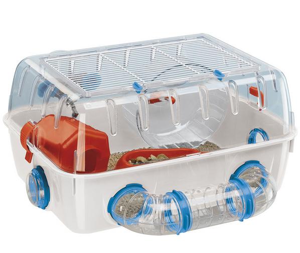 Ферпласт Клетка-террариум Combi 1 с игровыми туннелями для мышей и хомяков, 40,5*29,5*22,5 см, Ferplast