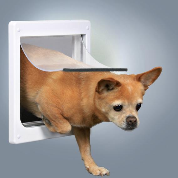 Трикси Дверца для собак и кошек, размер XS-S, 2 функции, 20*21 см, пластик, белый, Trixie
