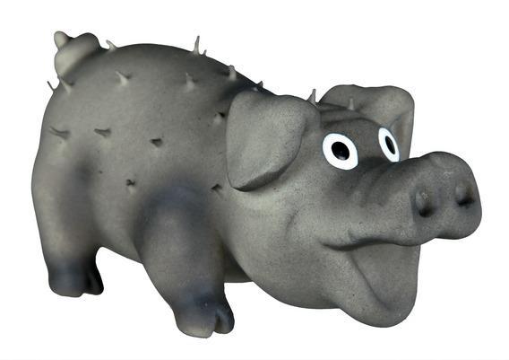Трикси Игрушка для собак Свинка с щетиной, 2 размера, латекс, Trixie