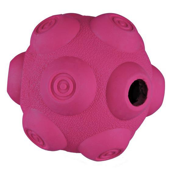 Трикси Мяч резиновый для лакомства (с кратерами), диаметр 9 см, Trixie