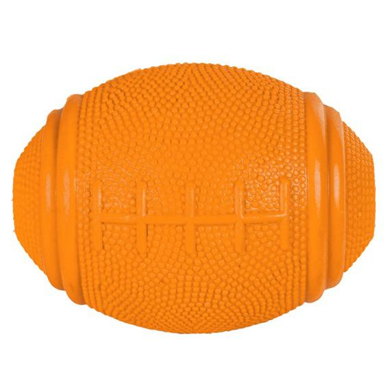 "Трикси Мяч для лакомств ""Регби"", резина, 8 см, однотонный, Trixie"