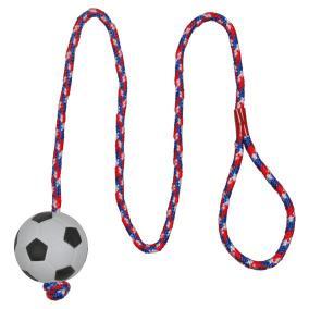 Трикси Мяч на веревке, диаметр 6 см, длина веревки 1 м, поролон/хлопок, Trixie