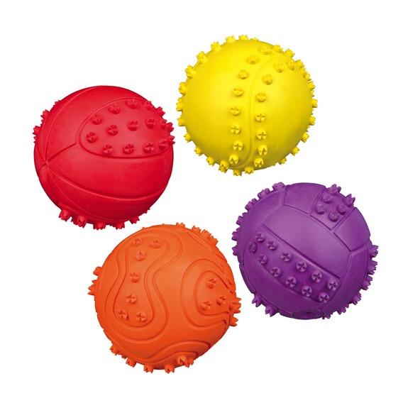 Трикси Мяч игольчатый, со звуком, резина, 6 и 9,5 см, Trixie