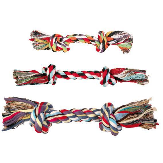 Трикси Веревка с двумя узлами, хлопок, 5 размеров, Trixie
