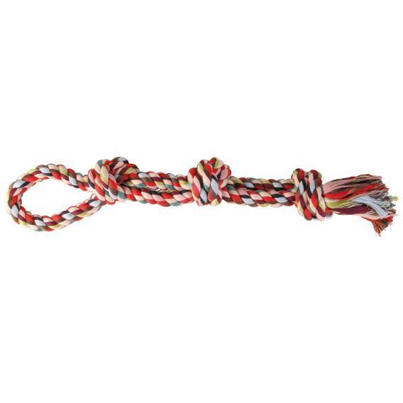 Трикси Веревка с узлом, с петлей, длина 60 см, вес 500 г, хлопок, Trixie