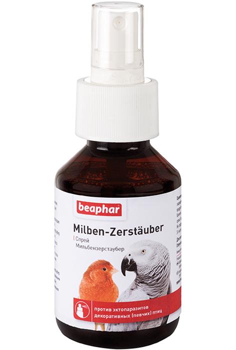 Беафар Спрей Milben-Zerstauber от паразитов для всех видов птиц, 100 мл, Beaphar