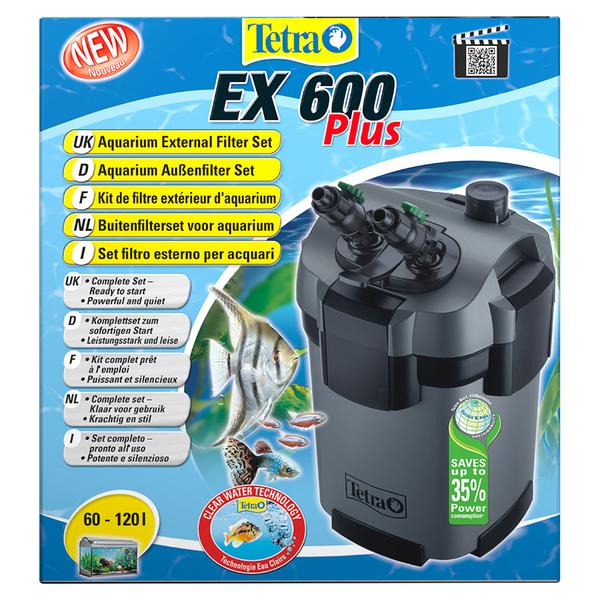 Тетра Внешний фильтр Tetratec EX 600 Plus для аквариумов до 120 л, 600 л/ч, Tetra