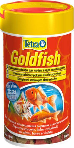 Тетра Корм Goldfish Colour  для улучшения окраски золотых рыбок, хлопья, 3 весовки, Tetra