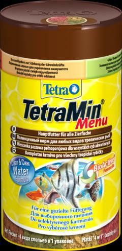 Тетра Корм TetraMin Menu 4 вида хлопьев в одной банке, для всех видов тропических рыб, в ассортименте, Tetra