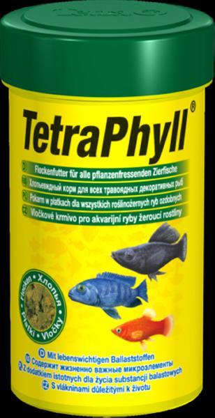 Тетра Корм TetraPhyll растительный для всех травоядных рыб, хлопья, в ассортименте, Tetra