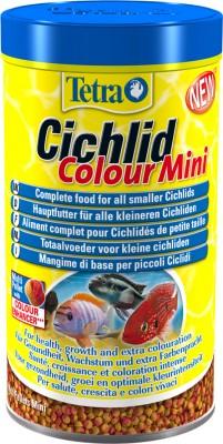 Тетра Корм Cichlid Colour Mini для усиления и поддержания окраски небольших цихлид, шарики, 2 весовки, Tetra