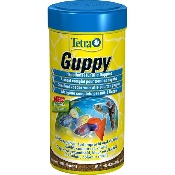 Тетра Корм Tetra Guppy для всех видов гуппи, хлопья, 3 весовки, Tetra
