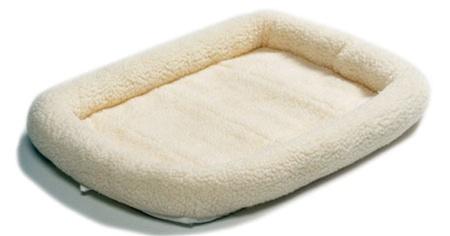 Мидвест Лежанка флисовая с бортиками Pet Bed белая, в ассортименте, Midwest