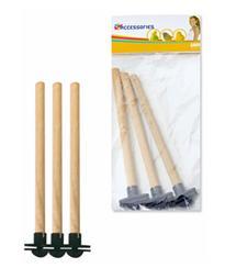Савик Деревянные жердочки для птиц 18*1,2 см, с креплением, 3шт/уп., Savic
