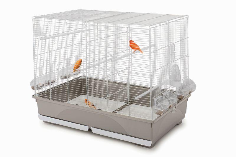 Имак Клетка Tasha для птиц, с разделительной выдвижной решеткой, 80,5*49*65 см, Imac