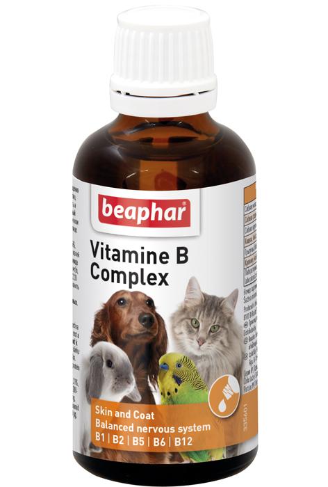 Беафар Комплекс витаминов группы В для собак, кошек, грызунов, хорьков и птиц Vitamine B Complex, 50 мл, Beaphar