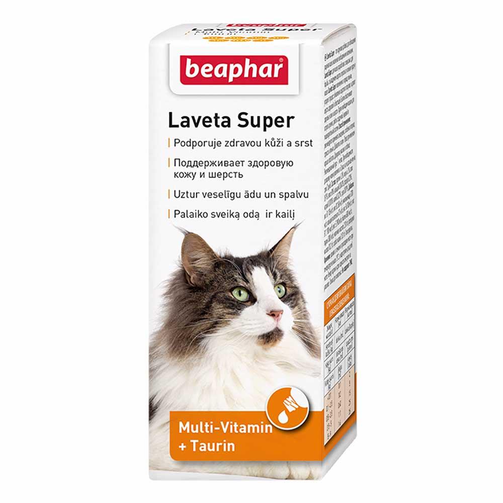 Беафар Витамины для шерсти кошкам Laveta Super For Cats, 50 мл, Beaphar