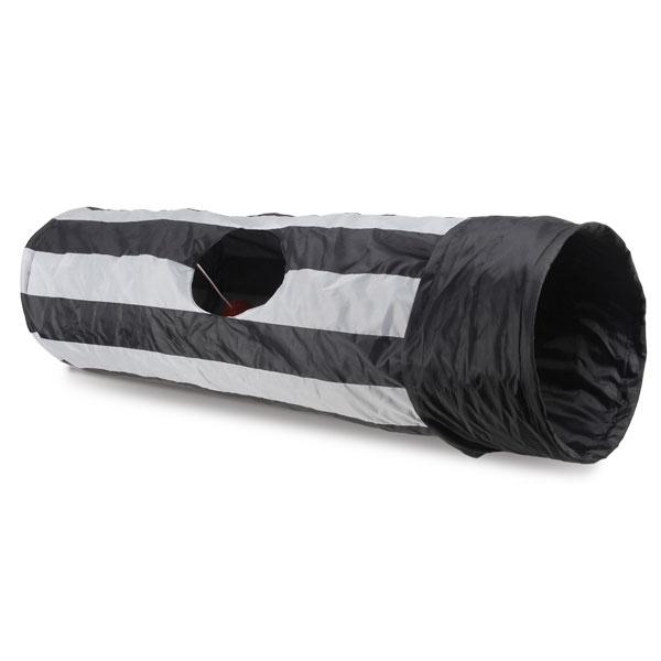 Триол Туннель для кошек шуршащий, 1 окошко и бубенчик, 25*90 см, Triol
