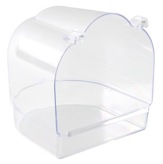 Трикси Купалка прозрачная подвесная для птиц и грызунов, 14*15*15 см, Trixie