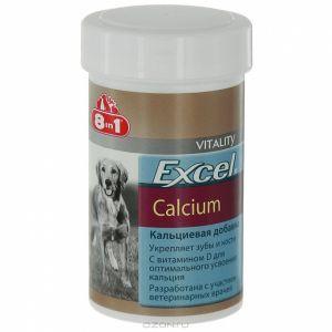 8 в 1 Эксель Кальций, Кальциевая добавка для щенков и взрослых собак, 4 весовки