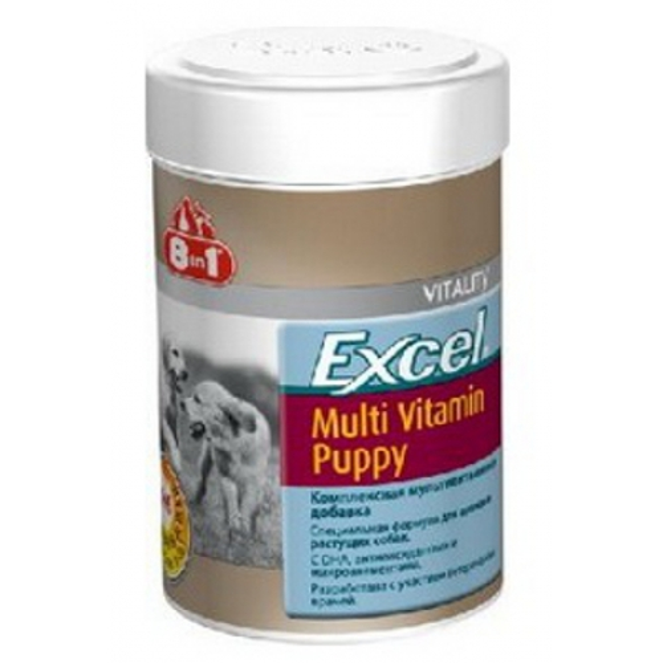 8 in1 Эксель Мультивитамины для щенков Excel Multi Vitamin Puppy, 100 таблеток
