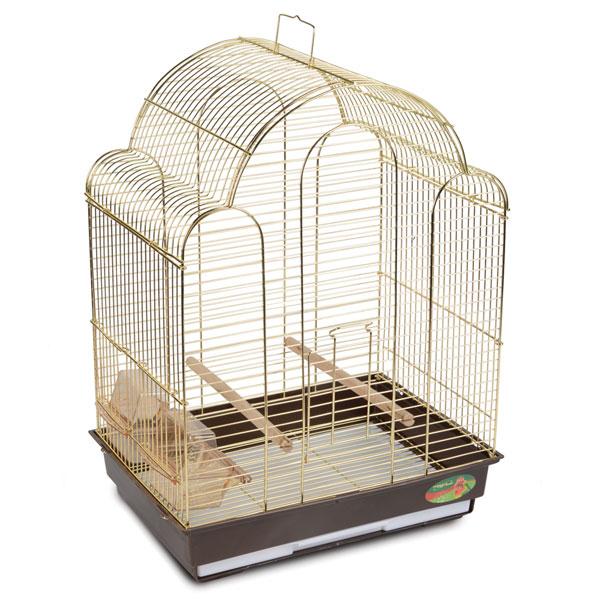 Триол Клетка 9100G для птиц, золото, 42*30*56 см, Triol