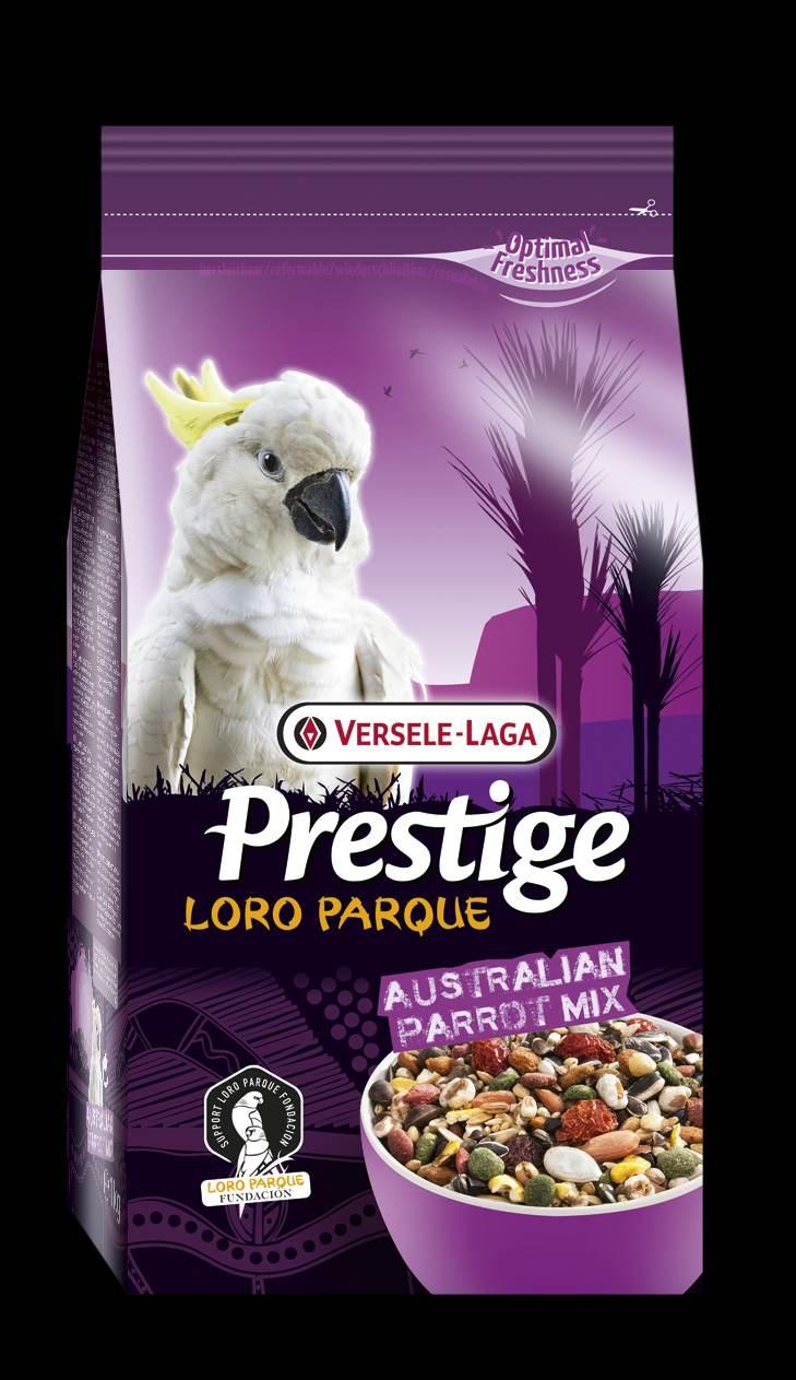 Верселе Лага Корм Australian Parrots Premium Loro Parque Mix для крупных австралийских попугаев Премиум класса, 2 весовки, Versele-Laga