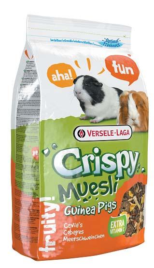 Верселе Лага Корм Crispy Muesli Guinea Pigs для морских свинок с витамином E, 3 весовки, Versele-Laga