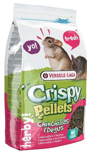 Верселе Лага Гранулированный корм для шиншилл и дегу Crispy Pellets - Chinchillas end Degus, 1 кг, Versele-Laga