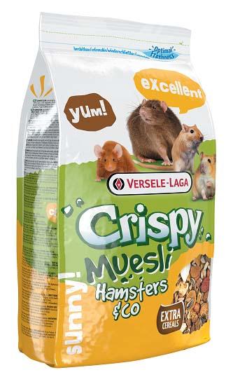 Верселе Лага Корм для всех грызунов Crispy Muesli Hamsters end Co с витамином E, 2 весовки, Versele-Laga