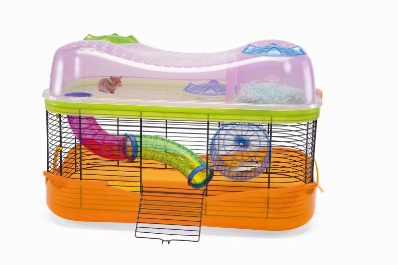 Имак Клетка модульная для мелких грызунов Fantasy, 58*38*38,5 см, прозрачно-оранжевый, Imac