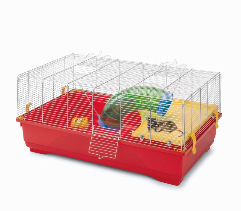 Имак Клетка Rat 80 с мелкой решеткой для грызунов, 80*49*38 см, поддон красный, Imac