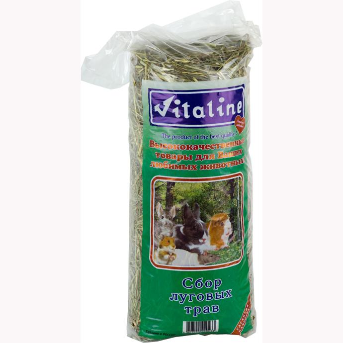 Виталайн Сено Vitaline сбор луговых трав для всех видов грызунов, 14,7 л / 400г