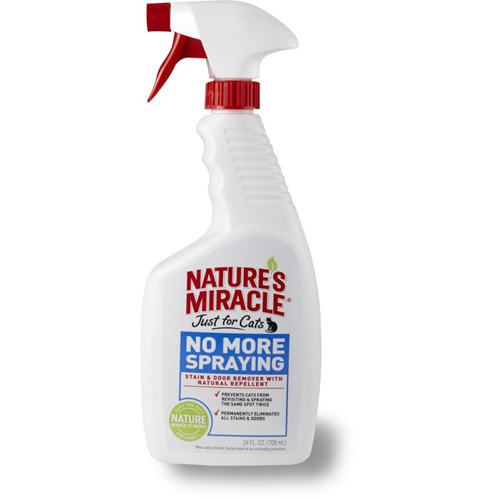 8in1 Спрей Антигадин для кошек JFC More Spraying Stain Odor Remover, 710 мл, Natures Miracle