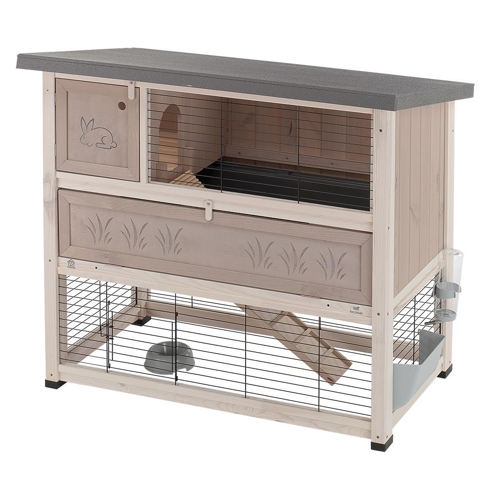 Ферпласт Деревянная клетка Ranch Plus для кроликов и морских свинок, в ассортименте, Ferplast