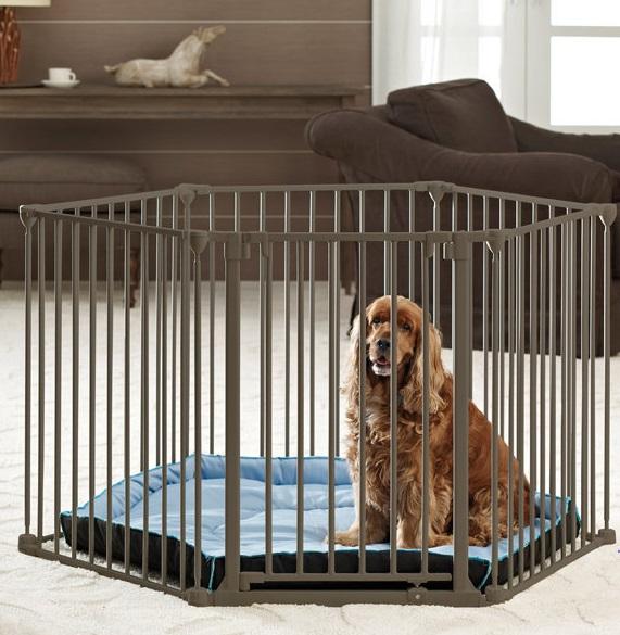 Савик Вольер (манеж) и перегородка металлический Dog Park De Luxe, шестисекционный, с лежаком и дверью, диаметр 120 см, высота 75 см, Savic