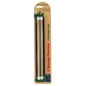 Пенн Плекс Деревянные жердочки для птиц, диаметр 1 см, 2 шт/уп., в ассортименте, Penn-Plax