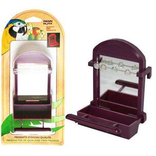 Пенн Плекс Игрушка-кормушка для бисквитов внутренняя c зеркалом и бусинами, 7*6,5*10 см, в ассортименте, Penn-Plax
