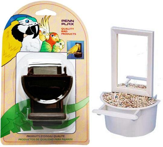 Пенн Плекс Кормушка для птиц внутренняя с зеркалом, 7*6,5*10 см, в ассортименте, Penn-Plax