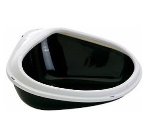 Савик Туалет-лоток Concha XL угловой с бортом, 51*38*22,5 см, в ассортименте, Saviс
