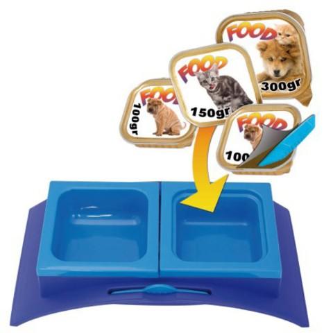 ГеорПласт Миска пластиковая Rialto для кошек и собак, 33*17*7,5 см, в ассортименте, GeorPlast