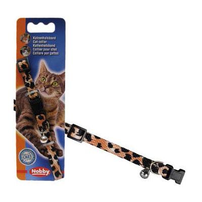 Нобби Ошейник для кошек Леопард, нейлон, ширина 1 см, длина 20-30 см, Nobby